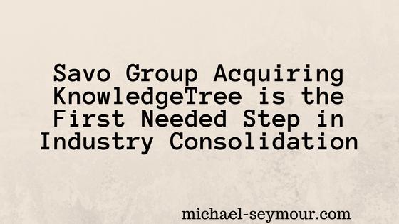 Savo Group Acquiring KnowledgeTree