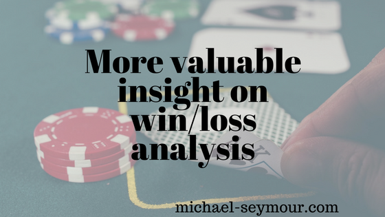 More valuable insight on win loss analysis